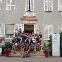 Visite de jeunes hollandais en école hotelière